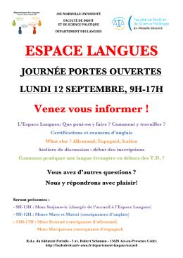 espace langues - Faculté de droit et de science politique