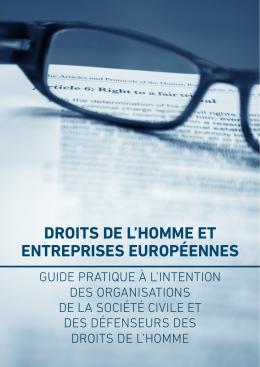 droits de l`homme et entreprises européennes
