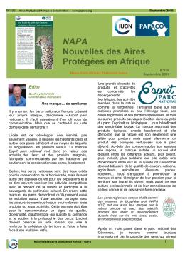 Télécharger la lettre des Aires Protégées d`Afrique