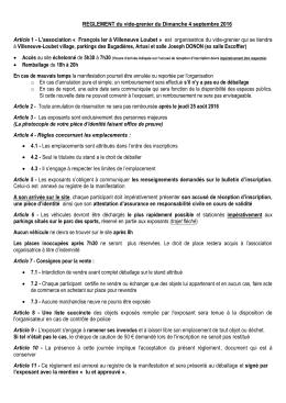 Règlement intérieur - Villeneuve Renaissance