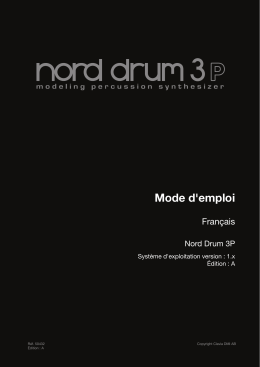 Mode d`emploi - Nord Keyboards