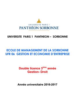 Brochure du diplôme - Université Paris 1 Panthéon