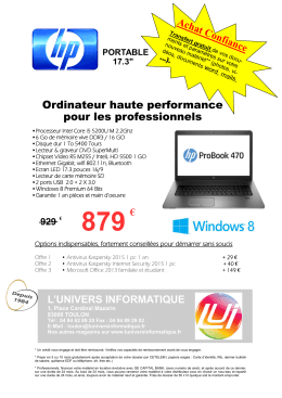 Portable HP Probook i5 6go 17