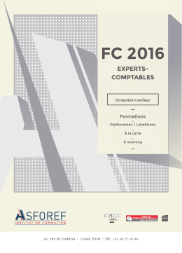 fC 2016 eXperts- Comptables