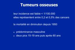 Tumeurs osseuses