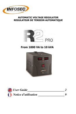 Guide utilisateur R2 Pro 1-10 kVA
