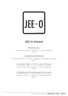 JEE-O shower MANUAL HANDLEIDING GUIDE DE L`UTILISATEUR