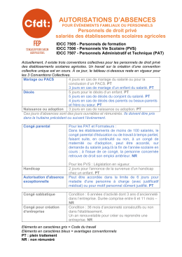 autorisations d`absences - La Fep-CFDT