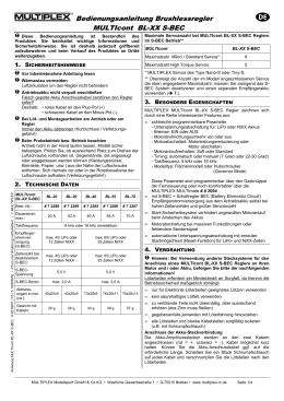Bedienungsanleitung Brushlessregler MULTIcont BL-XX