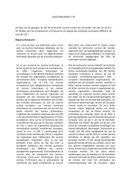 24. Wat zijn de gevolgen als het VK technische normen invoert