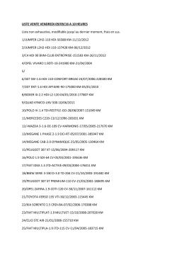 LISTE VENTE VENDREDI 09/09/16 A 10 HEURES Liste non