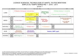 licence sciences, technologie et sante, toutes mentions emploi du