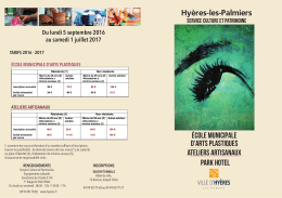 Hyères-les-Palmiers école municipale d`arts plastiques Ateliers