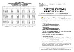 activites sportives annuelles 2016-2017 - Boulogne