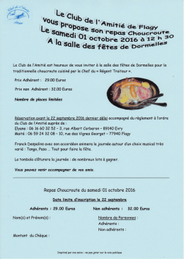 Affiche Choucroute