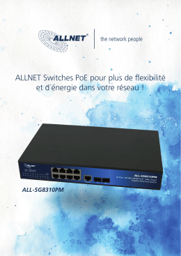 Nouveau catalogue ALLNET : Switches Ethernet