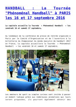 HANDBALL - Presse Agence Sport