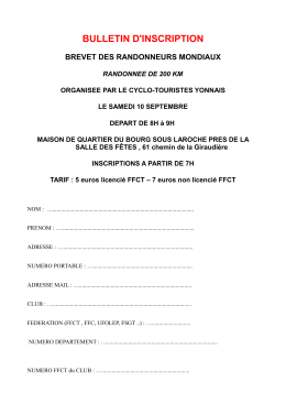 bulletin d`inscription - cyclo touristes yonnais