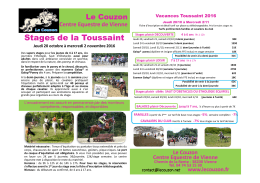 Stages de la Toussaint