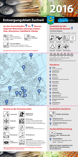 Entsorgungsblatt 2016