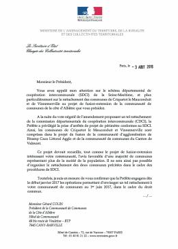 Monsieur Gérard COLIN Président de la