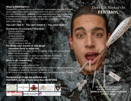 Bootleg Fentanyls BROCHURE for schools c/o North Bay and Area