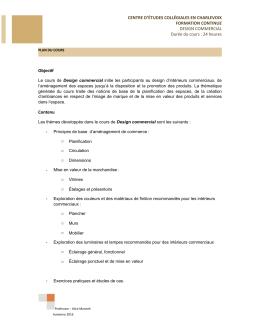 Plan de cours - Formation continue Charlevoix