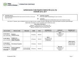 Consultez l`horaire 2016-2017