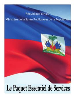 Le paquet essentiel de services - Ministère de la Santé Publique et