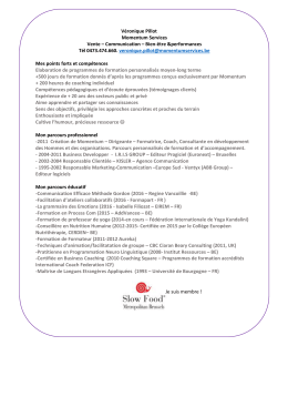 Télécharger CV - Momentum Services