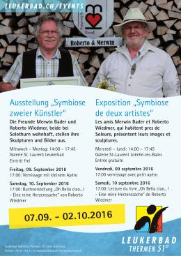"""Ausstellung """"Symbiose zweier Künstler"""" Exposition"""