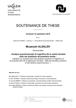 soutenance de these - Université de Caen