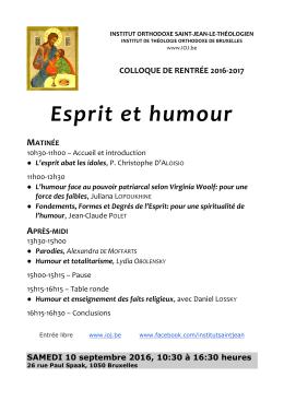 Esprit et humour