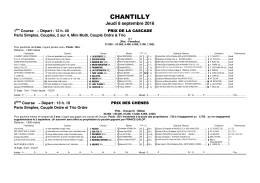 chantilly - Pro le trot