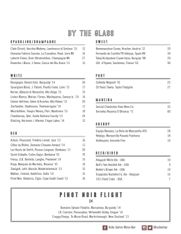 by the glass - Aldo Sohm Wine Bar