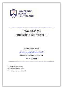 Travaux Pratiques - Initiation aux Réseaux IP