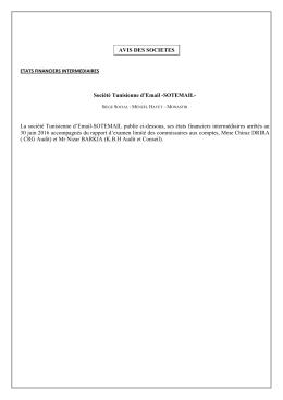Société Tunisienne d`Email -SOTEMAIL