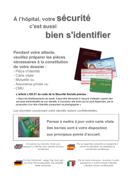 Affiche Identification Patient