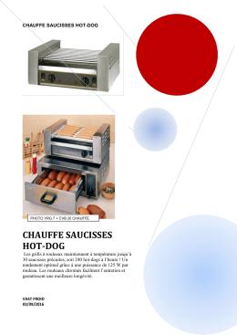 chauffe saucisses hot-dog