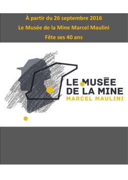 Communiqué de presse - Musée Mine Ronchamp