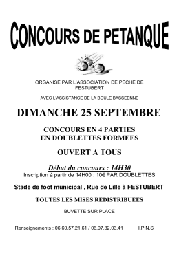 Flyer de la manifestations