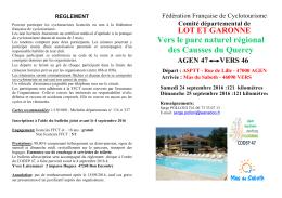 Lire la suite - CYCLOTOURISME STADE BORDELAIS ASPTT