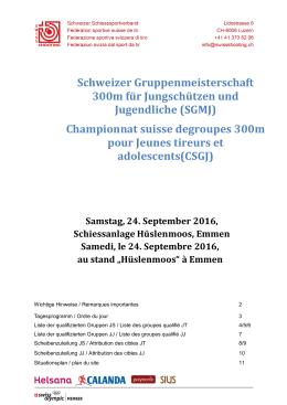 Schweizer Gruppenmeisterschaft 300m für Jungschützen und