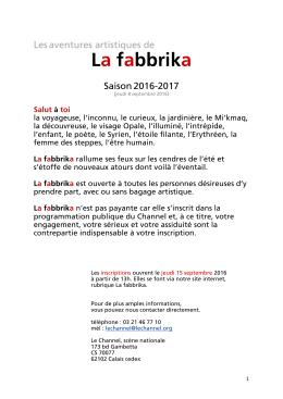La fabbrika - Le Channel