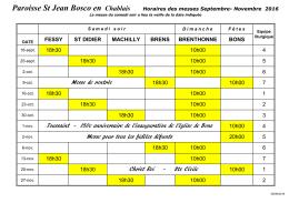 Paroisse St Jean Bosco en Chablais