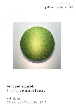 vincent szarek - Galerie Lange + Pult