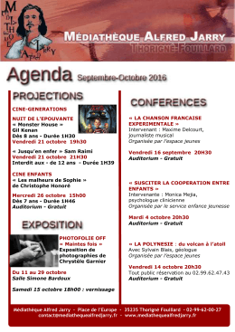 agenda de la mediatheque septembre-octobre
