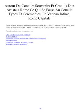 Autour Du Concile: Souvenirs Et Croquis Dun Artiste a Rome Ce Qui