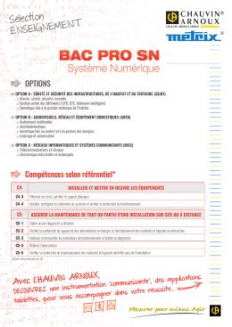 BAC PRO SN - Chauvin Arnoux