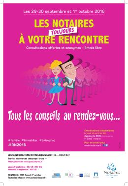 Télécharger l`affiche des rencontres notariales 2016 à Paris, en